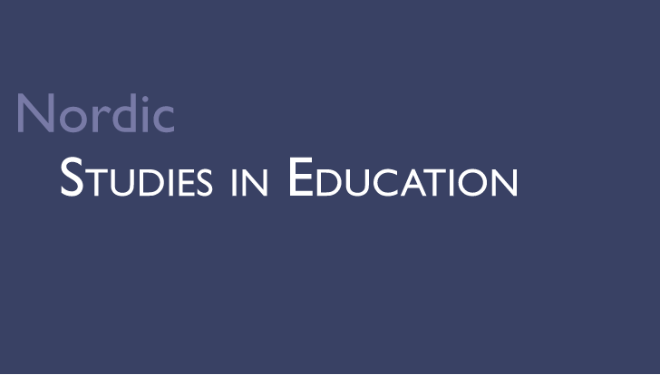 Nordic Studies in Education